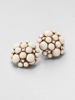 Oscar de la Renta - Cluster Cabochon Clip-On Earrings