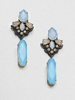 Erickson Beamon - Swarovski Crystal Girlie Queen Drop Earrings