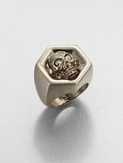 Alexander McQueen - Hexagonal Skull Ring