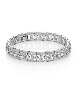 Adriana Orsini - Art Deco Pave Bracelet