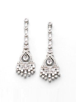 Adriana Orsini - Art Deco Pave Chandelier Earrings
