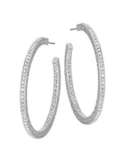 Adriana Orsini - Pave Hoop Earrings/1&frac12;