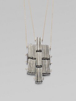 Etten Eller - Double Cross Pendant Necklace