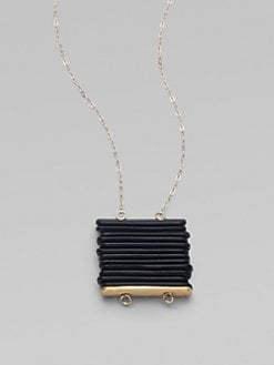 Etten Eller - Black-Finished Pendant Necklace