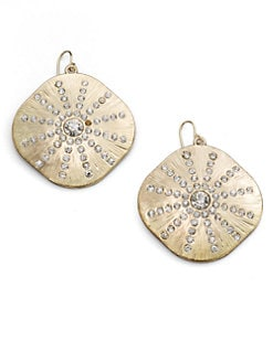 ABS by Allen Schwartz Jewelry - Sparkle Sand Dollar Earrings