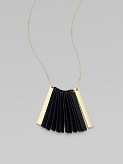 Etten Eller - Black Fan Necklace