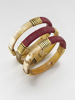 Kora - Wrapped Horn Bracelet Set