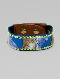 Fiona Paxton - Beaded Leather Cuff Bracelet