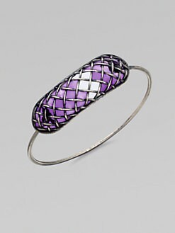 Bottega Veneta - Lattice Bangle Bracelet