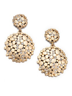 ABS by Allen Schwartz Jewelry - Pavé Double Drop Earrings