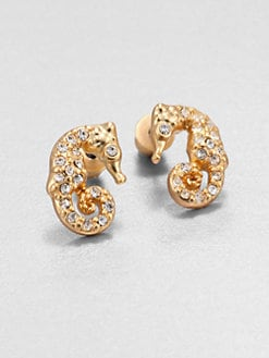 ABS by Allen Schwartz Jewelry - Pav&eacute;Seahorse Stud Earrings