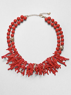 ABS by Allen Schwartz Jewelry - Coral Branch Double Row Necklace