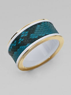 Kara by Kara Ross - Python & Resin Bangle Bracelet/Wide