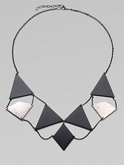 Bliss Lau - Element Geometric Plaque Bib Necklace