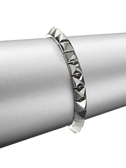 Eddie Borgo - Small Pyramid Stud Bracelet/Silver