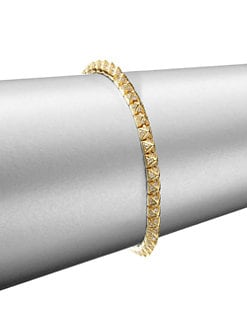 Eddie Borgo - Pave Crystal Pyramid Tennis Bracelet/Gold