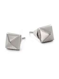 Eddie Borgo - Pyramid Stud Earrings/Silver