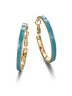 Kate Spade New York - Enamel Hoop Earrings/1.6