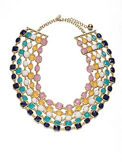 Kate Spade New York - Five-Strand Geometric Jeweled Necklace