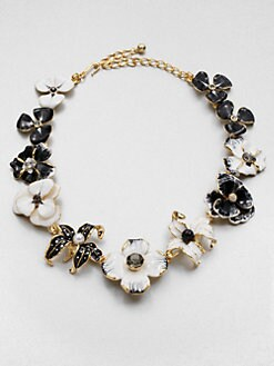 Kenneth Jay Lane - Enamel Flower Bib Necklace