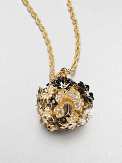 Kenneth Jay Lane - Enamel Floral Pendant Necklace