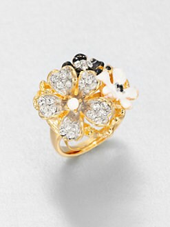 Kenneth Jay Lane - Enamel Flower Ring