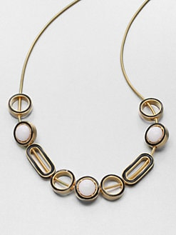 Kenneth Jay Lane - Two-Tone Slide Bead Necklace