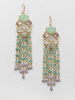 ABS by Allen Schwartz Jewelry - Cluster Chandelier Earrings