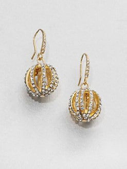 ABS by Allen Schwartz Jewelry - Pavé Ball Drop Earrings