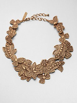 Oscar de la Renta - Lace Floral Necklace