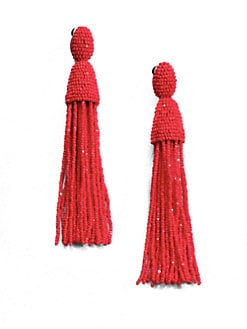 Oscar de la Renta - Beaded Tassel Earrings