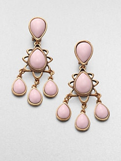 Oscar de la Renta - Pink Chandelier Earrings