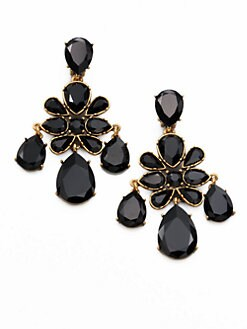 Oscar de la Renta - Faceted Chandelier Earrings