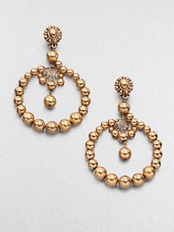 Oscar de la Renta - Beaded Circle Earrings