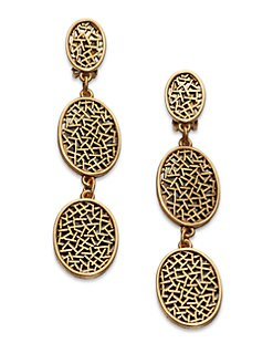 Oscar de la Renta - Oval Disc Drop Earrings