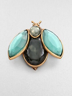 Oscar de la Renta - Jeweled Beetle Brooch
