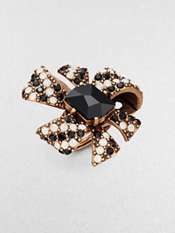 Oscar de la Renta - Swarovski Crystal Bow Cocktail Ring