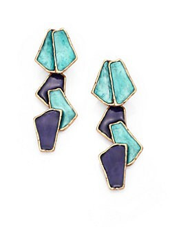 Oscar de la Renta - Modern Petal Clip-On Drop Earrings
