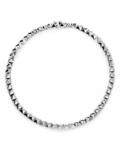 Eddie Borgo - Pyramid Necklace/Silver