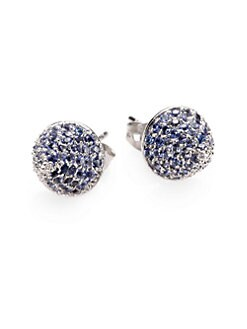 Eddie Borgo - Cone-Shaped Pavé Button Earrings