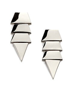Eddie Borgo - Tiered Triangle Earrings/Silver
