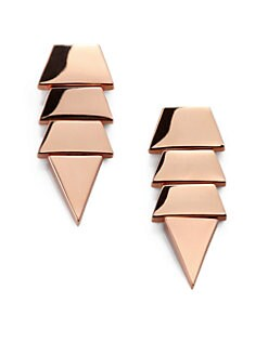 Eddie Borgo - Tiered Triangle Earrings/Rose Gold