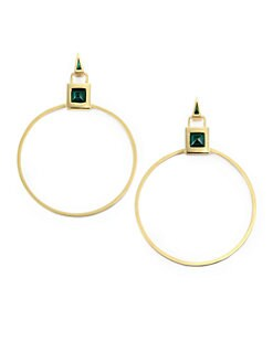 Eddie Borgo - Malachite Padlock Earrings
