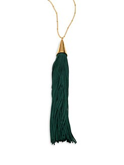 Eddie Borgo - Silk Tassel Cone Necklace