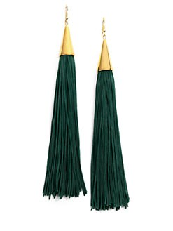 Eddie Borgo - Silk Tassel Cone Earrings