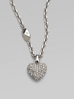 Dior - Pave Pop Heart Pendant Necklace