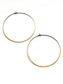 Michael Kors - Thin Hoop Earrings/Goldtone