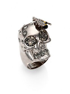 Alexander McQueen - Bee & Skull Cocktail Ring