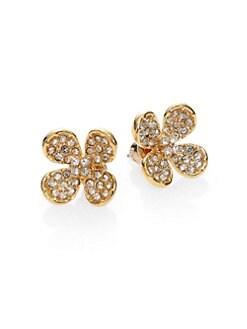 ABS by Allen Schwartz Jewelry - Sparkle Flower Earrings