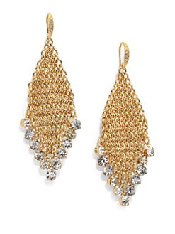 ABS by Allen Schwartz Jewelry - Mesh Sparkle Earrings